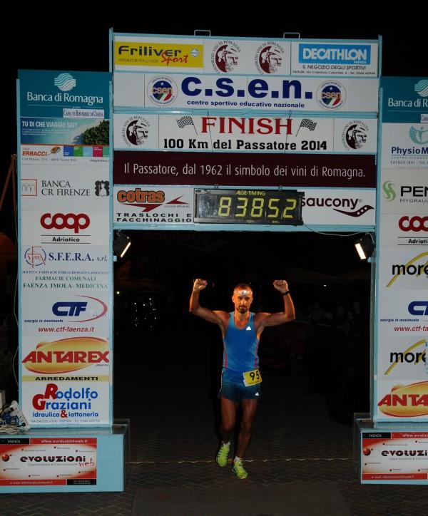 L'arrivo alla Maratona del Passatore di Stefano Donadio
