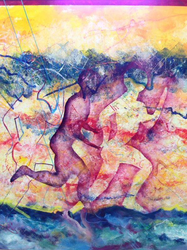 La Corsa. Dipinto di Marcello Ramadori